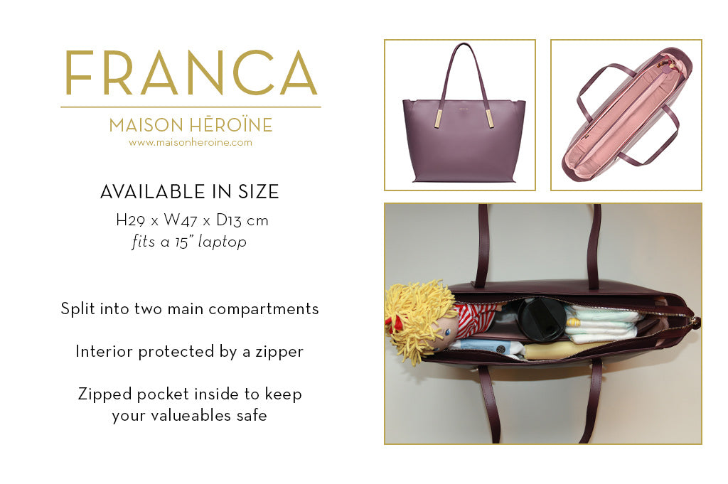 Franca mom purse infographic