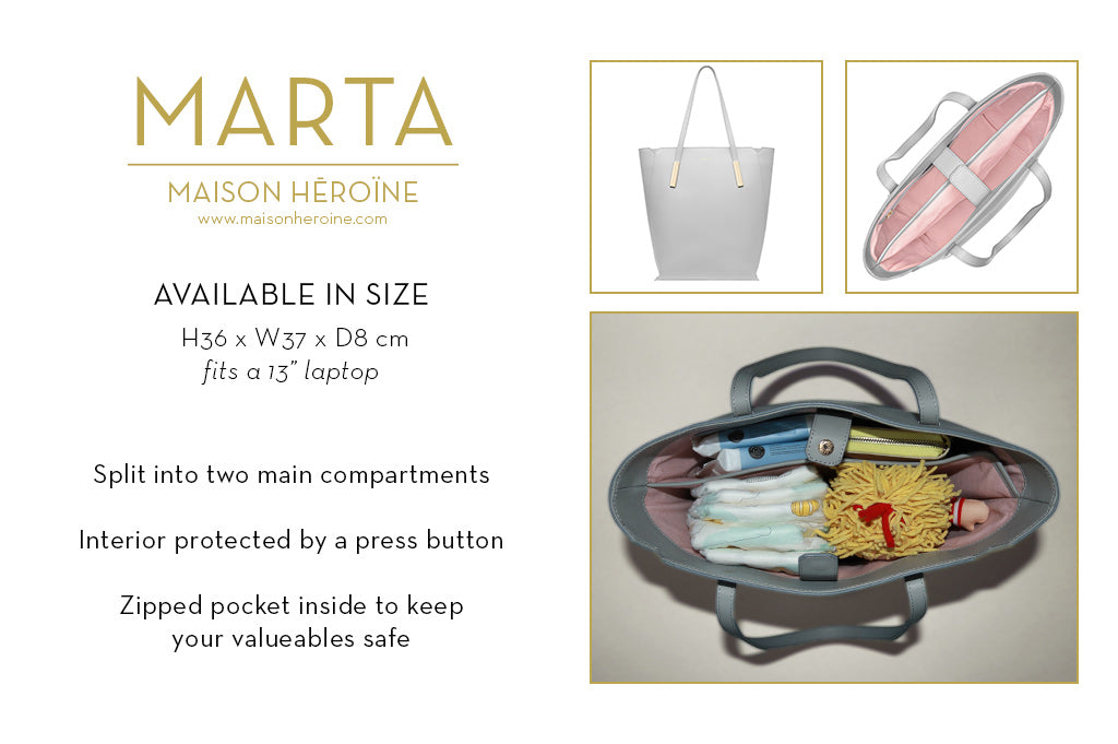 Marta mom purse infographic