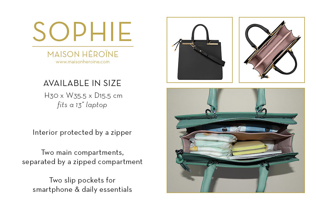 Sophie mom purse infographic