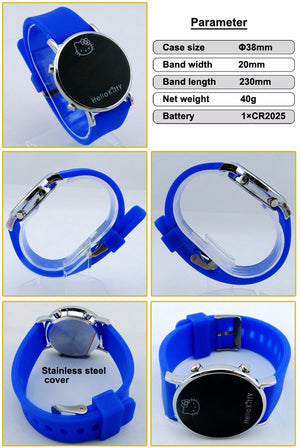 Hello Kitty Digital Wrist Watch - Proceeds Help Benefit Puffy Paws Kitty Haven 200 Special Needs Kitties