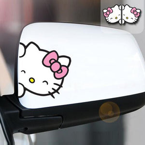 Hello Kitty Car Sticker 2pcs -Proceeds Help Support Puffy Paws Kitty Haven Cat Hospice for Special Needs Kitties