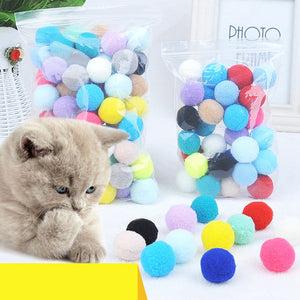 Colorful Fun Pom Poms for Cats - Proceeds Help Support 200 Special Needs Kitties