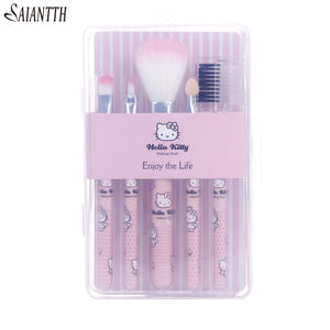 Hello Kitty Makeup Brush Set - Proceeds Help Support Puffy Paws Cat Hospice for Special Need Kitties