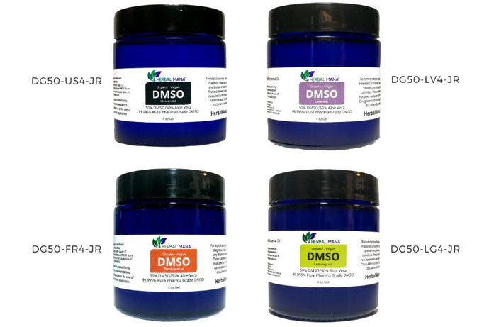 DMSO 4 oz gel 50/50 Aloe Vera - Custom Essential Oil Infusions (jars)