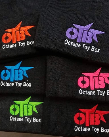 Octane Toy Box Beanie - Black w/ Embroidered Color Logo