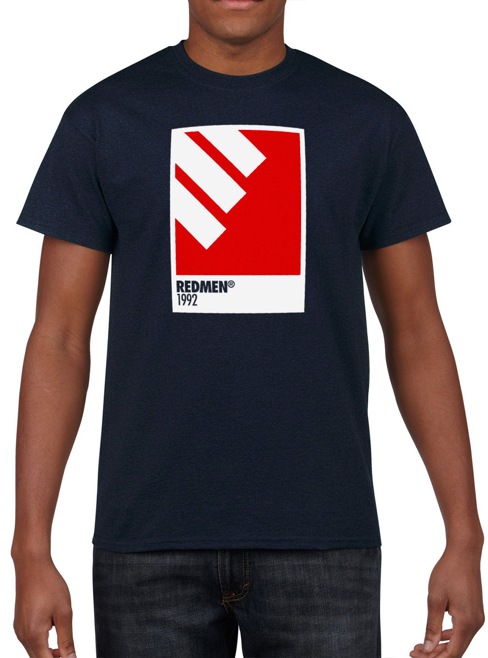 ALL MY COLOURS 'Redmen 1992 Homefront' Edition Tee - Navy