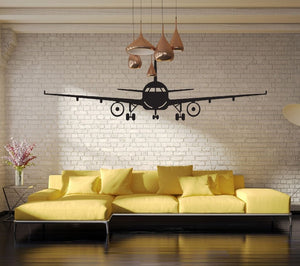 Black Airplane Wall Art Mural Decor Sticker