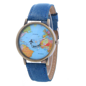 Global Travel By Plane Map Watch