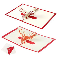 Load image into Gallery viewer, Greeting Cards 3D Laser Cut Airplanes