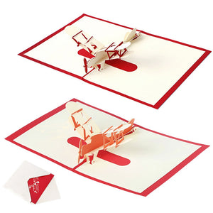 Greeting Cards 3D Laser Cut Airplanes