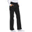 Cherokee Flexibles 1031 Scrubs Pants Women's Mid Rise Knit Waist Pull-On Black 3XL