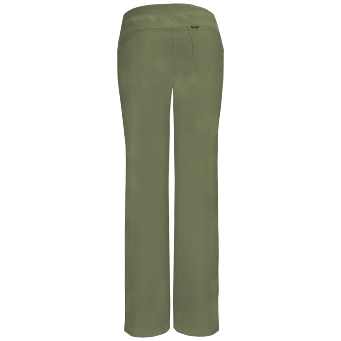 Cherokee Infinity 1123A Scrubs Pants Women's Low Rise Straight Leg Drawstring Olive