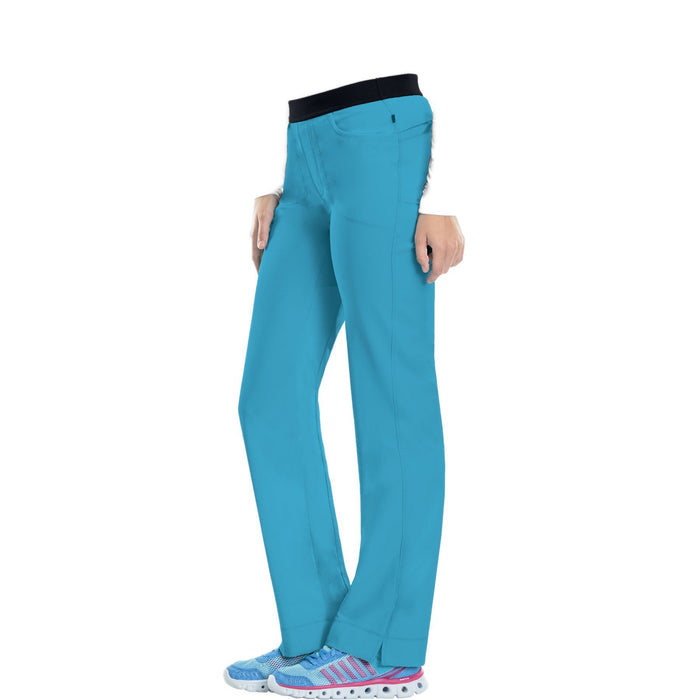 Cherokee Infinity 1124A Scrubs Pants Women's Low Rise Slim Pull-On Turquoise