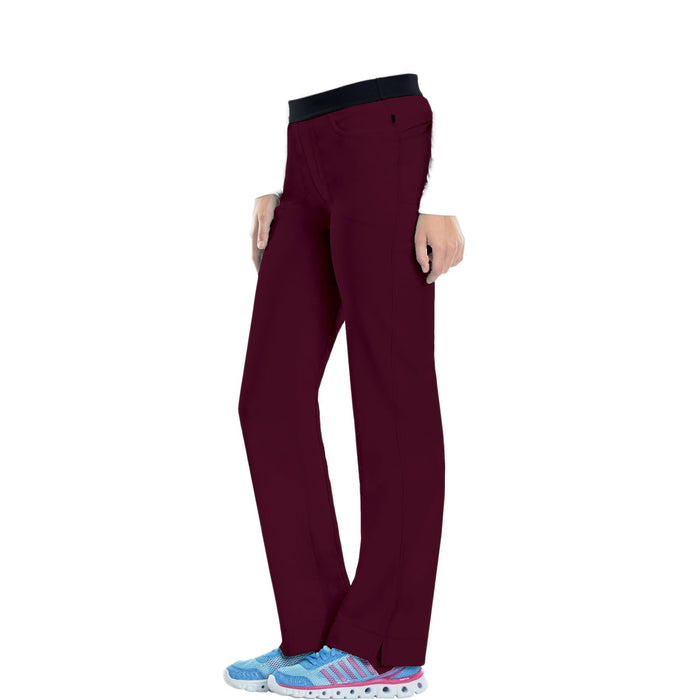 Cherokee Infinity 1124A Scrubs Pants Women's Low Rise Slim Pull-On Wine