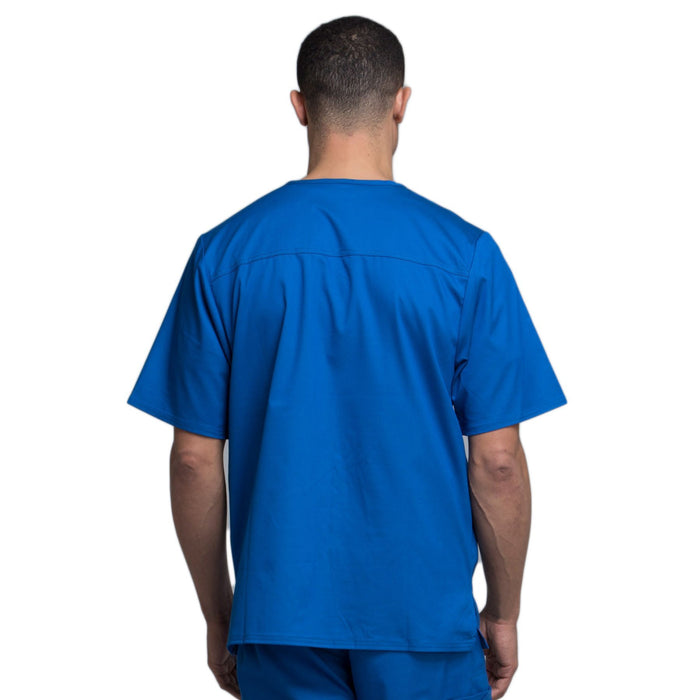 Cherokee Luxe 1929 Scrubs Top Men's V-Neck Royal 3XL