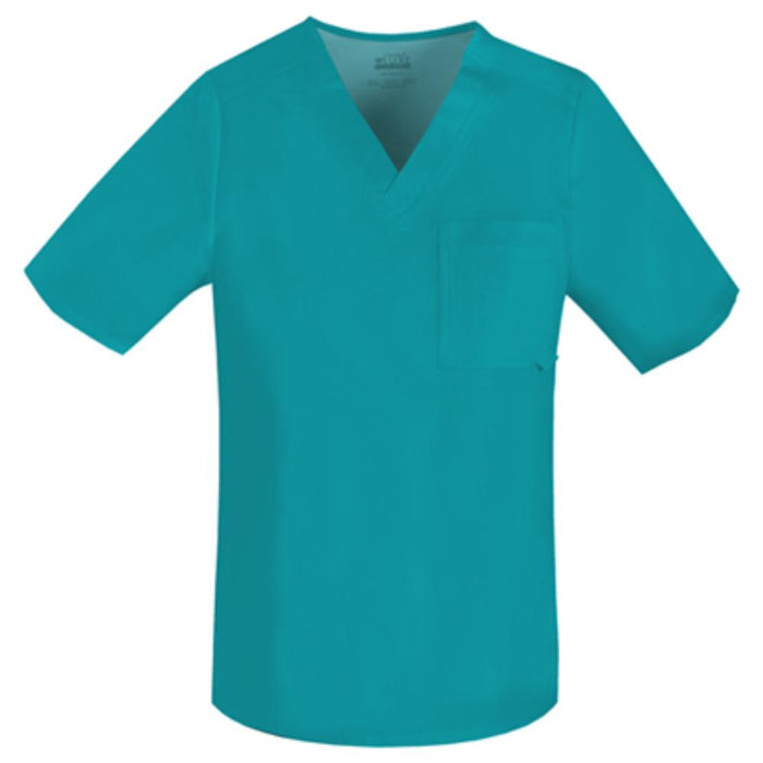 Cherokee Luxe 1929 Scrubs Top Men's V-Neck Teal Blue