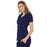 Cherokee Luxe 21701 Scrubs Top Women's Empire Waist Mock Wrap Navy L