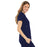 Cherokee Luxe 21701 Scrubs Top Women's Empire Waist Mock Wrap Navy M