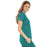 Cherokee Luxe 21701 Scrubs Top Women's Empire Waist Mock Wrap Teal Blue M