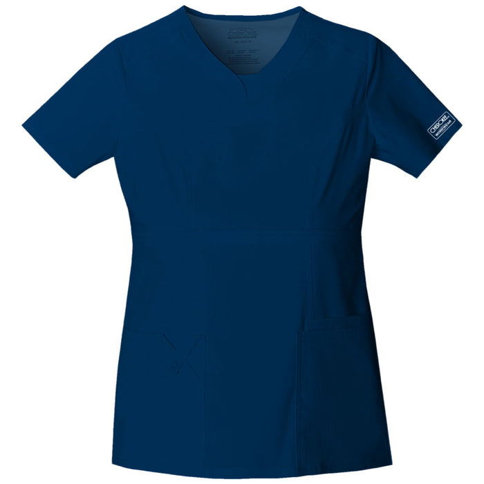 Cherokee Workwear Core Stretch 24703 Scrubs Top Women's V-Neck Navy