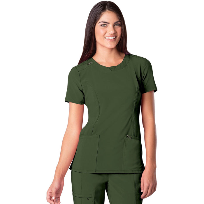 Cherokee Infinity 2624A Scrubs Top Women's Round Neck Olive
