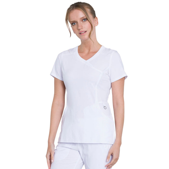 Cherokee Infinity 2625A Scrubs Top Women's Mock Wrap White