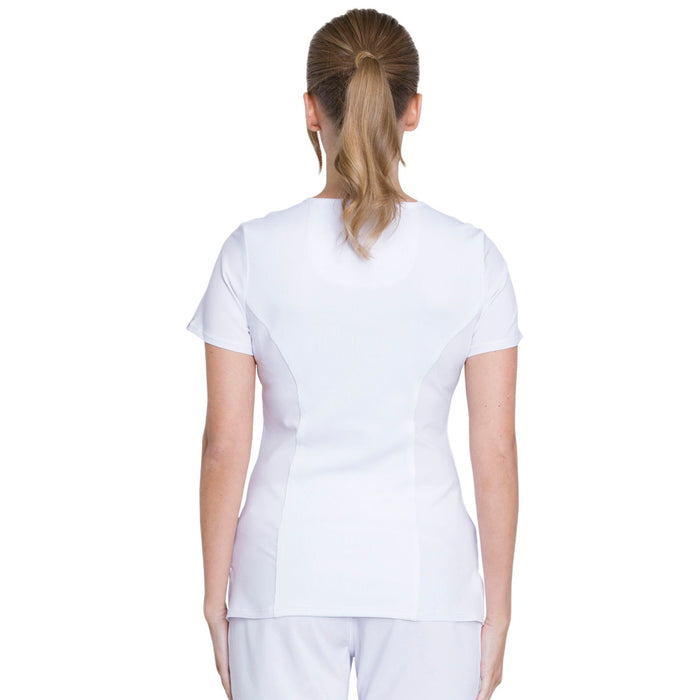 Cherokee Infinity 2625A Scrubs Top Women's Mock Wrap White 3XL