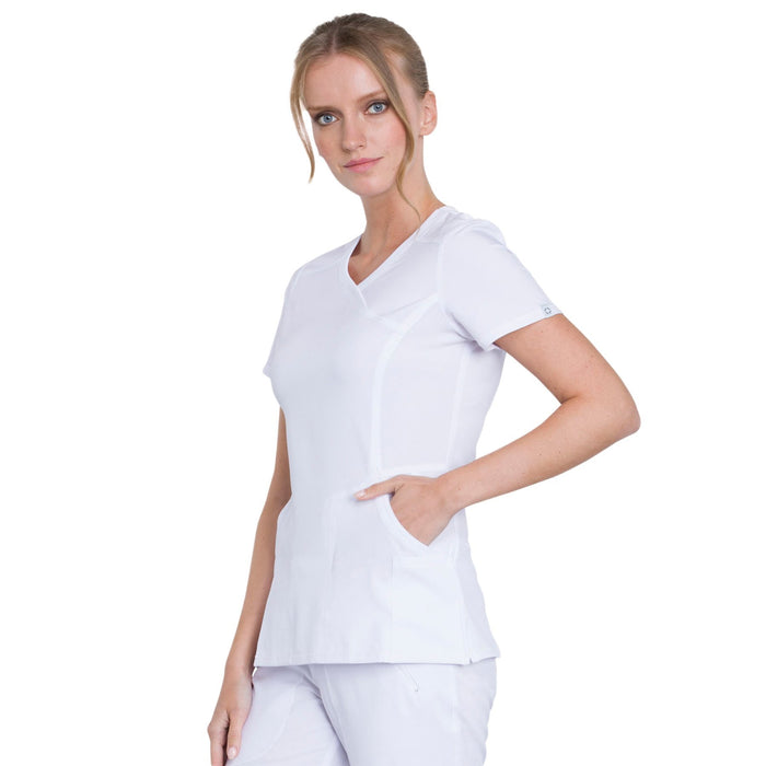 Cherokee Infinity 2625A Scrubs Top Women's Mock Wrap White 4XL