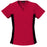 Cherokee Flexibles 2874 Scrubs Top Women's V-Neck Knit Panel Red