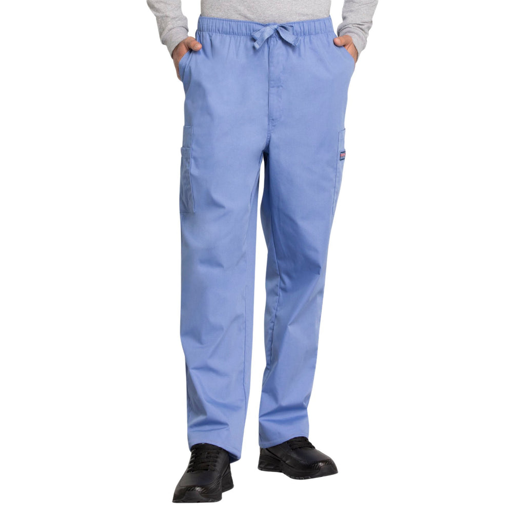 Cherokee Workwear 4000 Scrubs Pants Men's Drawstring Cargo Ciel Blue