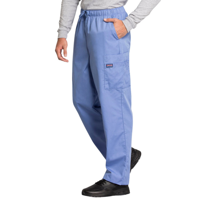 Cherokee Workwear 4000 Scrubs Pants Men's Drawstring Cargo Ciel Blue 3XL