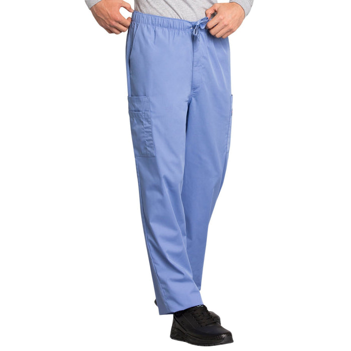 Cherokee Workwear 4000 Scrubs Pants Men's Drawstring Cargo Ciel Blue 4XL