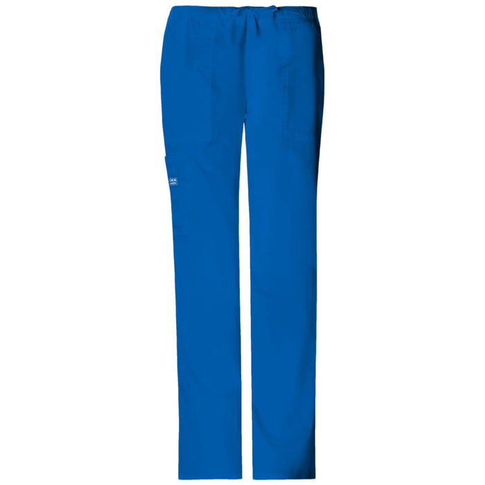 Cherokee Workwear Core Stretch 4044 Scrubs Pants Women's Mid Rise Drawstring Cargo Royal