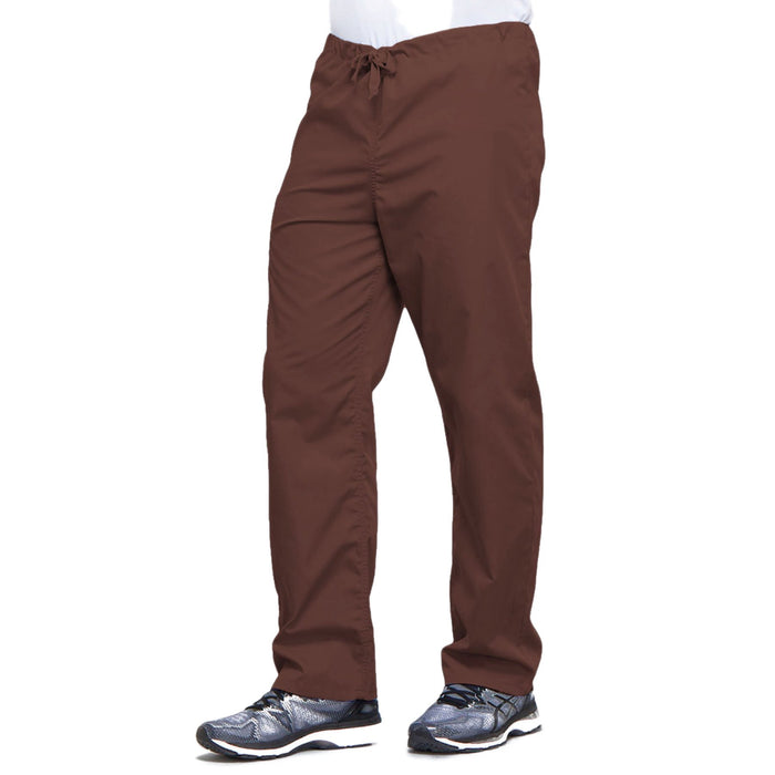 Cherokee Workwear 4100 Scrubs Pants Unisex Drawstring Cargo Chocolate