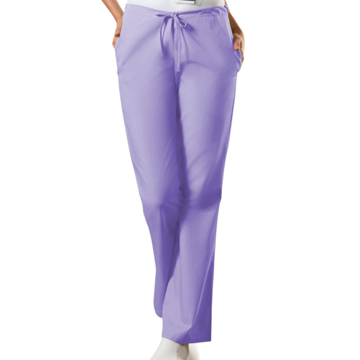 Cherokee Workwear 4101 Scrubs Pants Women's Natural Rise Flare Leg Drawstring Orchid