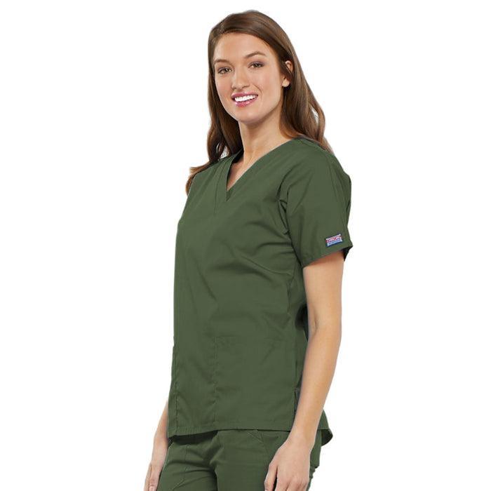 Cherokee Workwear 4700 Scrubs Top Women's V-Neck Olive 4XL