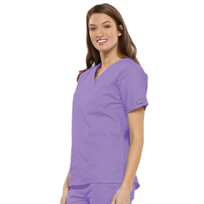 Cherokee Workwear 4700 Scrubs Top Women's V-Neck Orchid 3XL