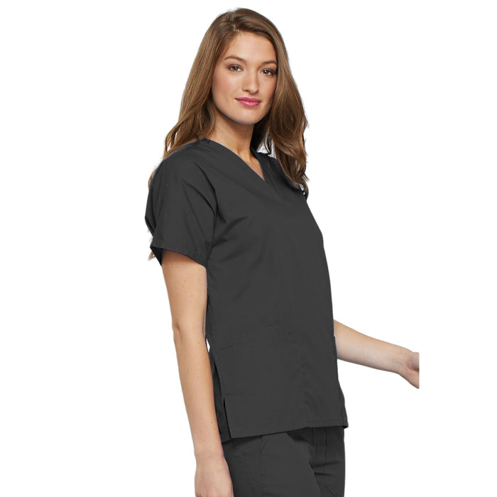 Cherokee Workwear 4700 Scrubs Top Women's V-Neck Pewter 4XL