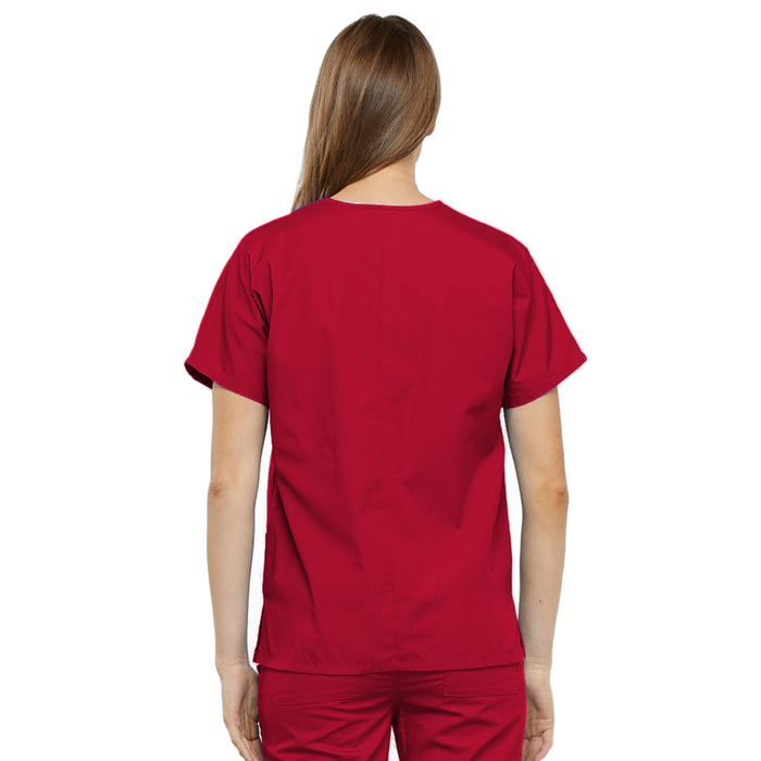Cherokee Workwear 4700 Scrubs Top Women's V-Neck Red 3XL
