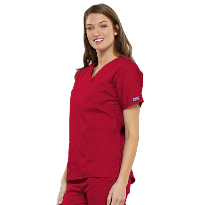 Cherokee Workwear 4700 Scrubs Top Women's V-Neck Red 4XL