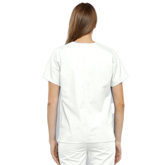 Cherokee Workwear 4700 Scrubs Top Women's V-Neck White 3XL