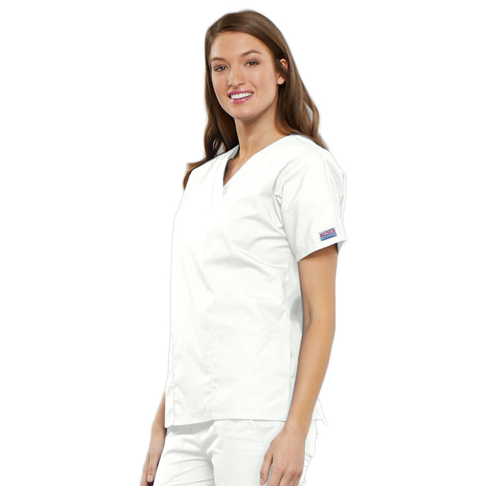 Cherokee Workwear 4700 Scrubs Top Women's V-Neck White 4XL