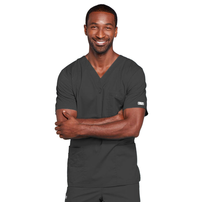 Cherokee Core Stretch 4725 Scrubs Top Unisex V-Neck Pewter