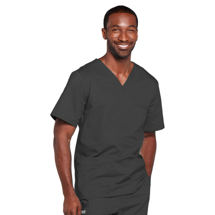 Cherokee Core Stretch 4725 Scrubs Top Unisex V-Neck Pewter 5XL