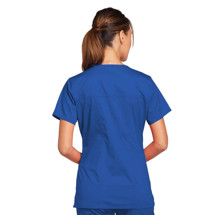 Cherokee Core Stretch 4727 Scrubs Top Women's V-Neck Royal 3XL