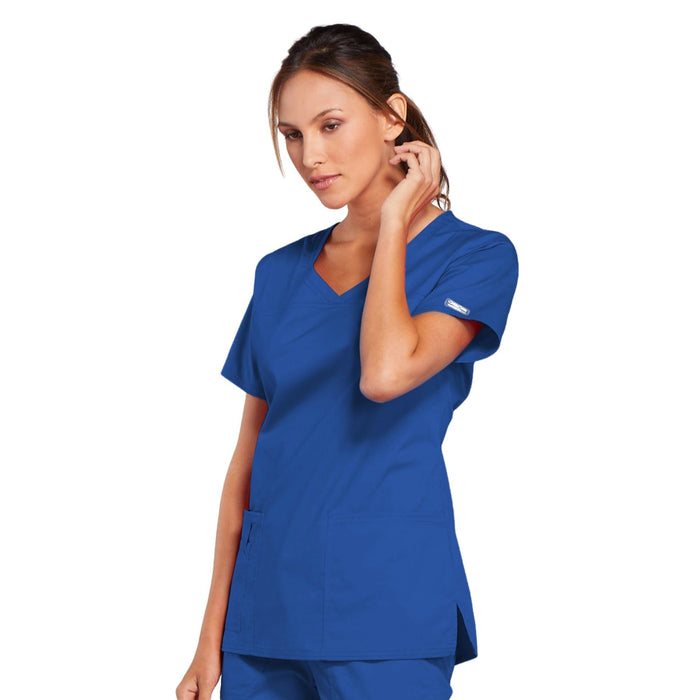 Cherokee Core Stretch 4727 Scrubs Top Women's V-Neck Royal 4XL