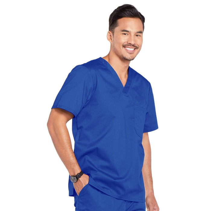 Cherokee Core Stretch 4743 Scrubs Top Men's V-Neck Royal 4XL