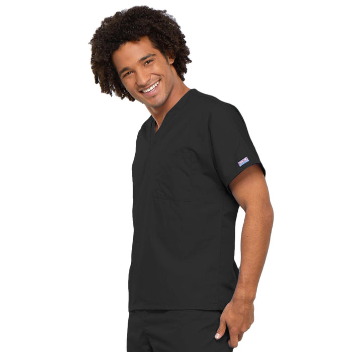 Cherokee Workwear 4777 Scrubs Top Unisex V-Neck Tunic. Black 3XL