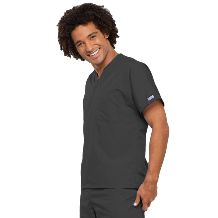 Cherokee Workwear 4777 Scrubs Top Unisex V-Neck Tunic. Pewter 3XL