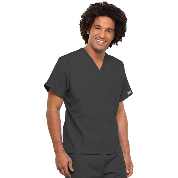 Cherokee Workwear 4777 Scrubs Top Unisex V-Neck Tunic. Pewter 4XL